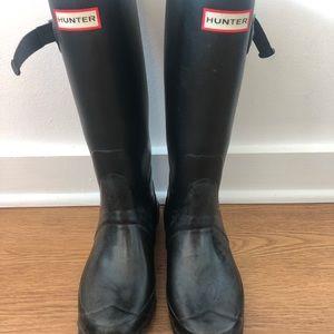 Hunter Women's Original Tall Rain Boots: Black